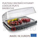 Cooler plate with cover for Barbecue