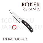 BOKER Deba ceramic knife with 12,7cm white ceramic blade ebony handle (ref. 1300C5)