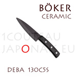 BOKER Deba ceramic knife with 12,7cm black ceramic blade ebony handle (ref. 130C5S)