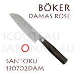 SANTOKU numbered japanese knife Boker Rose damas stainless steel forged  delivered in a presentation case with a certificate of authenticity