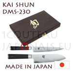 KAI 2 japanese knives Boxed gift set - SHUN series - DM0701 + Santoku DM0702 - Damascus steel blades