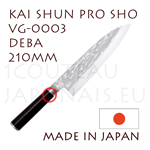 KAI professional japanese knives - SHUN PRO SHO series - VG-0003 DEBA knife  single-edged blade shapes