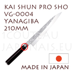 KAI professional japanese knives - SHUN PRO SHO series - VG-0004 YANAGIBA knife  single-edged blade shapes