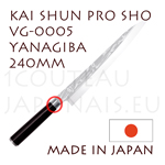 KAI professional japanese knives - SHUN PRO SHO series - VG-0005 YANAGIBA knife  single-edged blade shapes