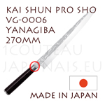 KAI professional japanese knives - SHUN PRO SHO series - VG-0006 YANAGIBA knife  single-edged blade shapes