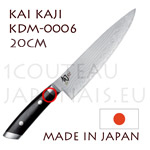 KAI japanese knives - KDM-0006 SHUN KAJI series - CHEF's knife - Damascus steel blade
