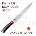 KAI japanese slicing knives - KDM-0008 SHUN KAJI series - scalloped HAM knife - Damascus steel blade