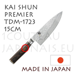 KAI CHEF japanese knife - TDM1723 SHUN PREMIER series - Damascus hammered steel blade