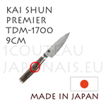 KAI japanese knives - TDM1700 SHUN PREMIER series - OFFICE knife - hammered Damascus steel blade