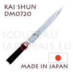 KAI japanese knive - SHUN series - Hollow ground damascus steel blade slicing knife