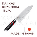 KAI japanese knives - KDM-0004 SHUN KAJI series - scalloped SANTOKU knife - Damascus steel blade