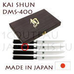 KAI SHUN DMS400 box - gift set of 4 japanese steak knives  KAI SHUN series DM0711 knives - Damascus steel blades