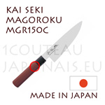 Couteau traditionnel japonais KAI série SEKI MAGOROKU Red Wood MGR-150C - couteau CHEF