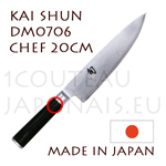 KAI japanese knife - DM0706 SHUN series - chef´s Kitchen knife  Damascus steel blade