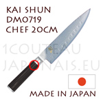 KAI japanese knife DM0719 SHUN series - CHIEF knife  Scalloped Damascus steel blade