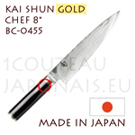 KAI japanese knife - SHUN GOLD series - BC-0455 chef´s Kitchen knife  Damascus steel blade