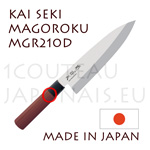 Couteau traditionnel japonais KAI série SEKI MAGOROKU Red Wood MGR-210D - couteau DEBA