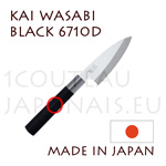 KAI traditional japanese knives - WASABI BLACK series - little 6710D DEBA knife