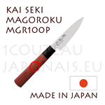 KAI japanese knives - MGR-100P SEKI MAGOROKU RED WOOD series - Office knife