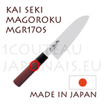 KAI traditional japanese knives - MGR-170S SEKI MAGOROKU RED WOOD series - SANTOKU knife