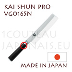 "KAI professional japanese knives - SHUN PRO series - VG-0165N NAKIRI knife  single-edged blade shapes - blade 5,5"" (16,5cm) - handle 12.2cm"