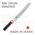 KAI japanese knive - SHUN series - bead knife  Damascus steel blade with double sterration -push and pull- edge