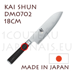KAI japanese knives - SHUN series - LEFT-HANDED SANTOKU knife - Damascus steel blade