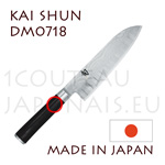 KAI japanese knives - SHUN series - SANTOKU knife - Scalloped damascus steel blade