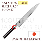 KAI japanese knife - SHUN GOLD series - BC-0457 Slicing Kitchen knife  Damascus steel blade