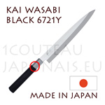 KAI traditional japanese knives - WASABI BLACK series - 6721Y YANAGIBA knife