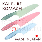KAI japanese knives - PURE KOMACHI series - colored design