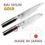 KAI japanese knives - SHUN GOLD series - chefs knives - Damascus steel blade