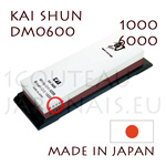 Sharpening whetstone KAI SHUN series DM-0600   grit 1 face 1000 and 1 face 6000 - to be used in a wet state