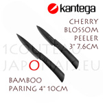 "KANTEGA ceramic knives with 3"" and 4"" black ceramic blades"