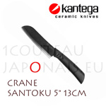 "CRANE - KANTEGA Santoku ceramic knife with 5"" black ceramic blade"