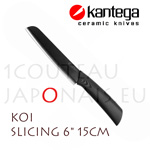"KOI - KANTEGA ceramic slicing knife with 6"" black ceramic blade"