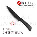"TIGER - KANTEGA Chef ceramic knife with 7"" black ceramic blade"