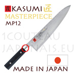 KASUMI japanese knives - MASTERPIECE series - CHEF knife MP12 - Damascus VG10 steel blade and micarta handle