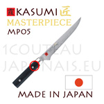 KASUMI japanese knives - MASTERPIECE series - BONING knife MP02- Damascus VG10 steel blade and micarta handle