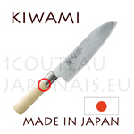 KIWAMI - SANTOKU japanese knife Damas 33 layers - Poplarwood handle