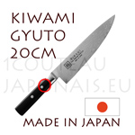 KIWAMI - GYUTO-CHEF japanese knife Damas 33 layers - Pakkawood handle