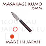 Masakage Kumo: 75 mm PETTY japanese knife - VG10 stainless steel 61-62 Rockwell - octogonal rosewood handle and black pakka wood bolster
