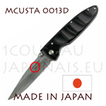 Japanese pocket knife MCUSTA 0013D - liner lock - DAMAS VG10 steel blade with african ebony handle