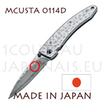 Japanese pocket knife MCUSTA 0114D - liner lock - DAMAS VG10 steel blade with hammered handle