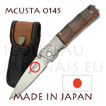 Japanese pocket knife MCUSTA 0145 - liner lock - DAMAS VG10 steel bolster with cocobolo handle in the form of bamboo