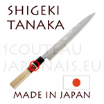 Sashimi/yanagi-ba japanese knife from Shigeki Tanaka cutler  Hand forged from carbon steel -non stainless steel-