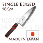 SINGLE EDGED - DEBA 18cm japanese knife from Akira Sasaoka - Aokami2 High carbon steel