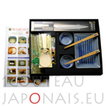 Sashimi set for 2 persons with 1 yanagiba knife for sashimis